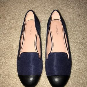 Top Shop Navy and Black Flats